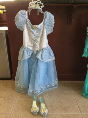 GIRLS PRINCESS COSTUMES with shoes and Crowns for Sale in Sacramento, CA