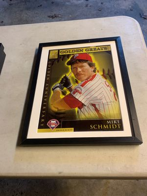 Mike Schmidt photo from Topps 50 years of baseball cards for Sale in Seattle, WA