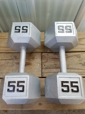 55 pound dumbbells for Sale in Bell Gardens, CA