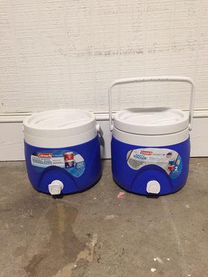 2 Coleman 2 gallon drink coolers for Sale in Atlanta, GA