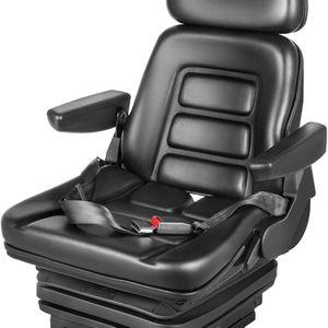 VEVOR Suspension Seat Adjustable Backrest Headrest Armrest, Forklift Seat with Slide Rails, Foldable Heavy Duty for Tractor Forklift Excavator Skid St for Sale in Upland, CA