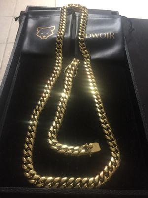 Early Black Friday Sale!! 14KT Gold Filled Cuban Chain and Bracelet. All sizes available!! Best Top Quality!! for Sale in Pittsburgh, PA