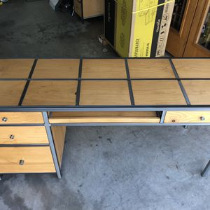 Custom Wooden Desk and End Table for Sale in Santa Clara, CA