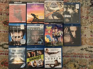 4K UHD Blu-ray Movies - Jurassic Park, Toy Story 5, Bohemian Rhapsody & More for Sale in Los Angeles, CA