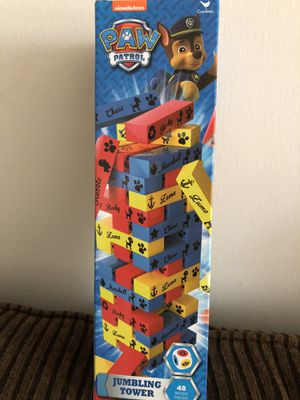 Brand new paw patrol jumbling tower 48 wood pieces for Sale in Farmington Hills, MI