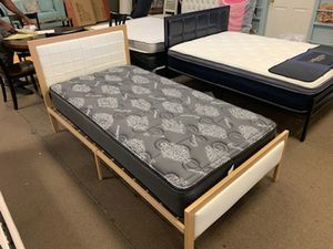 Twin bed frame with cashmere mattress for Sale in Glendale, AZ