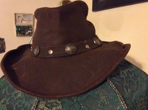 Leather cowboy hat for Sale in Athens, MI