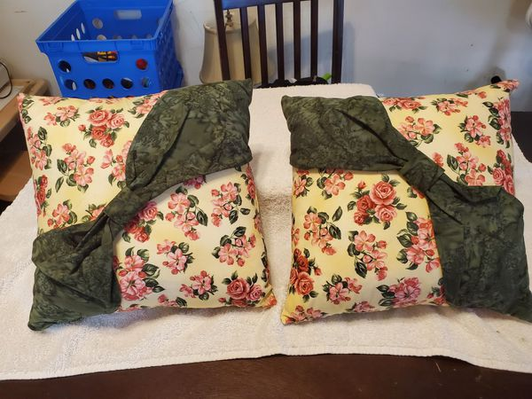 2 Homemade Decorative Pillows