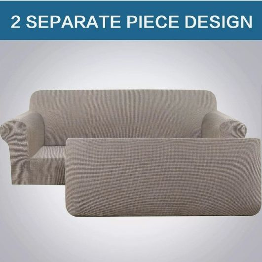 2 Piece Stretch Sofa Covers for 3 Cushion Large Couch Covers Sofa Slipcovers XL