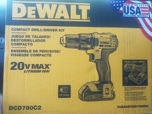 Dewalt compact drill/driver kit with 2, 1. 5 amp hour batteries One battery charger and a contractor bag, retail $160+tax for Sale in Tempe, AZ