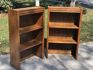 Solid wood Bookcases/hutch for Sale in Tampa, FL