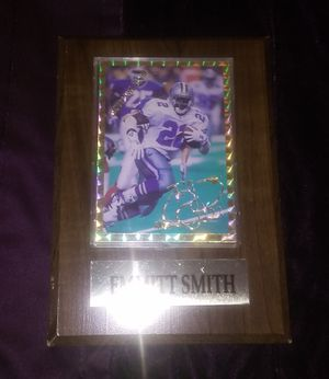 1994 National Sports Collectors Convention Emmitt Smith Baseball Card / Plaque - Fair Condition for Sale in Nashville, TN
