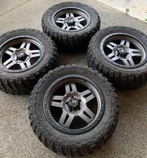 "20"" Rims and tires. 5x5 or 5x127 for Sale in Seattle, WA"