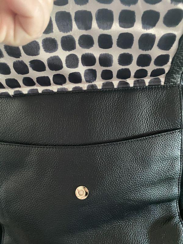 kate spade ♠️ genuine hand bag black leather