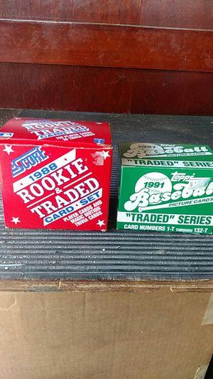 1988 Score & 1991 Topps Traded Baseball Card Sets for Sale in El Cajon, CA