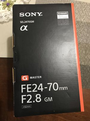 Sony G Master FE 24-70 mm F2.8 GM for Sale in Fort Lauderdale, FL