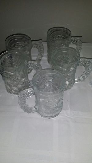 5 sets Batman collection glass mug for Sale in Lakewood, OH