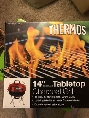 "Thermos 14"" Tabletop Charcoal grill for Sale in Gaithersburg, MD"
