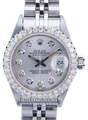 Rolex Lady Datejust 69174 Silver Diamond Dial Diamond Bezel 26mm for Sale in Los Angeles, CA