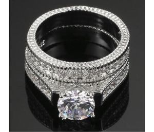 New 18 k white gold wedding ring set for Sale in New York, NY