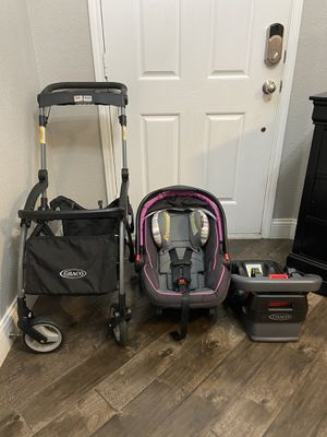 Graco Stroller, Car Seat and Base Travel System for Sale in Fort Worth, TX