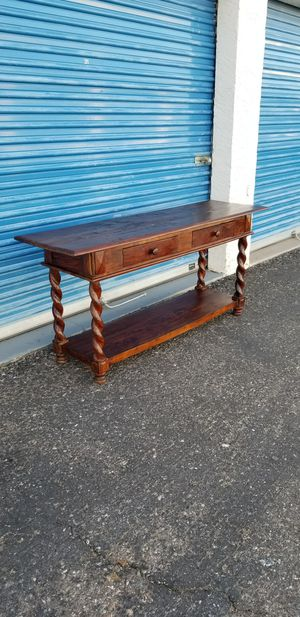 """Rustic solid wood console table / entry table / sofa table. Measures approx: 66.5"""" long for Sale in Phoenix, AZ"""