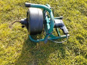 """Used drain auger machine wire cable 3/8"""" diameter for forward or Reverse Portable 110v 60hz for Sale in Riverside, CA"""