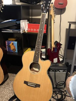 Epiphone Electric/acoustic Guitar with Stratocaster Amp for Sale in Fullerton, CA