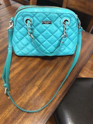 Kate Spade Quilted Leather Crossbody Bag- Teal/ Turquoise for Sale in Pasadena, CA