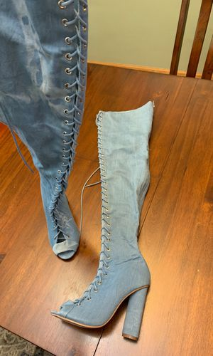 Clubbing/ going out lace up thigh high boots for Sale in Chicago, IL