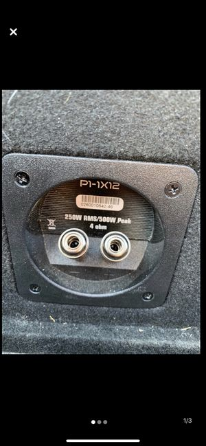"""Rockford Fosgate 12"""" Subwoofer and Amp. for Sale in Lawton, OK"""