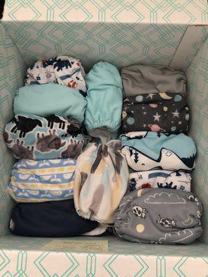 Thirsties AIO newborn cloth diapers for Sale in Irving, TX
