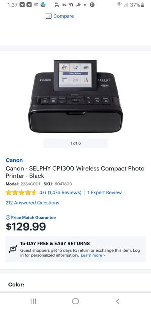 Canon Selphy portable photo printer for Sale in Crestview, FL
