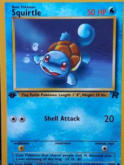 1st Edition Squirtle Mint - Pokemon Team Rocket for Sale in Marysville,  WA