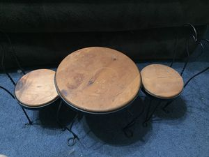 """Home Interior Soda Fountain Table and Chairs 13"""" tall for Sale in Lorain, OH"""