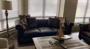 Leather Couch & Matching Chair for Sale in Columbus, OH