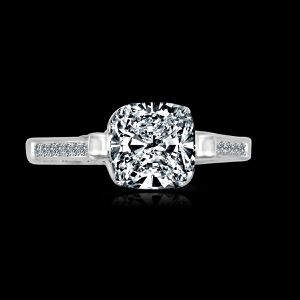 1.5CT (7x7mm) intensely Radiant Cushion Diamond Veneer Tension style Set in Sterling Silver Wedding/Engagement Ring. 635R71495 for Sale in San Francisco, CA