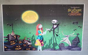Jack Skellington backdrop Nightmare before christmas decorations for Sale in Bellflower, CA