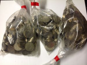 Slot tokens works with most commercial arcade games 250 tokens for $25 price is firm for Sale in Middleburg Heights, OH