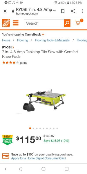7 inch table tile saw for Sale in Glendale, AZ