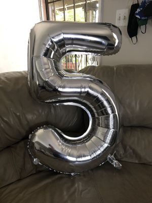 Number balloon for Sale in Bloomington, CA