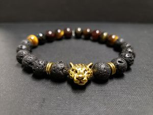 ***NATURAL STONE-AAA African Tiger Eye Lava Rock Oil Essential Bracelet (Calm emotions,make right decision,money making,Health Benefits-see photos for Sale in Rancho Cucamonga, CA