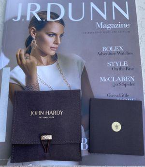 John Hardy Silver Hoop earrings with shoulder bag from JR Dunn never worn for Sale in Longwood, FL