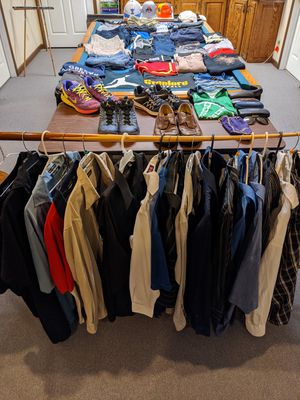 Enormous Lot of Name Brand Men's Clothing, shoes, accessories READ for Sale in Clinton, OH