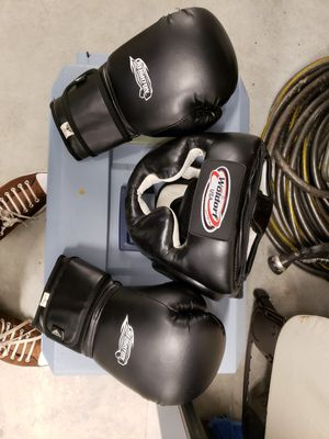 Face cover and boxing gloves for Sale in Lawrenceville, GA