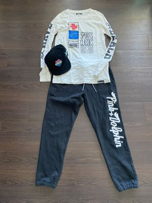 Pink Dolphin Outfit Pants Hat Shirt for Sale in Tempe, AZ