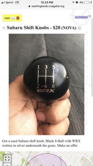 Subaru WRX shift knob for Sale in Manassas, VA
