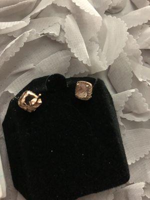Rose gold morganite diamond accent earrings for Sale in Phoenix, AZ