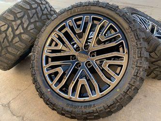 "22"" GMC Sierra Wheels Sensor Yukon Denali Rims Tires Cadillac Escalade for Sale in Rio Linda,  CA"