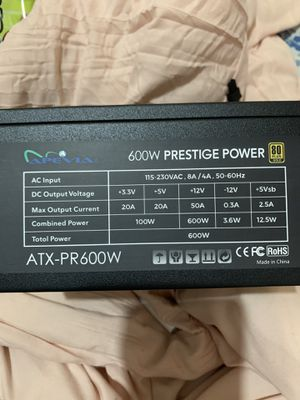 APEVIA 600W 80plus gold power supply for Sale in Azusa, CA